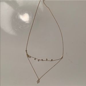 Bloomingdales Gold Necklace with Crystals
